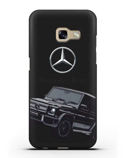 Чехол с картинкой Мерседес Гелендваген силикон черный для Samsung Galaxy A7 2017 [SM-A720F]