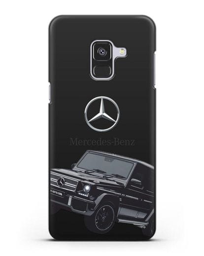 Чехол с картинкой Мерседес Гелендваген силикон черный для Samsung Galaxy A8 [SM-A530F]
