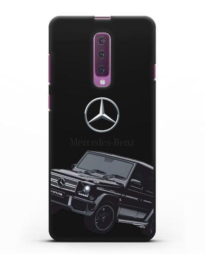 Чехол с картинкой Мерседес Гелендваген силикон черный для Samsung Galaxy A90 [SM-A908N]