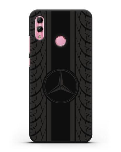 Чехол с логотипом Мерседес Бенц силикон черный для Honor 10 Lite
