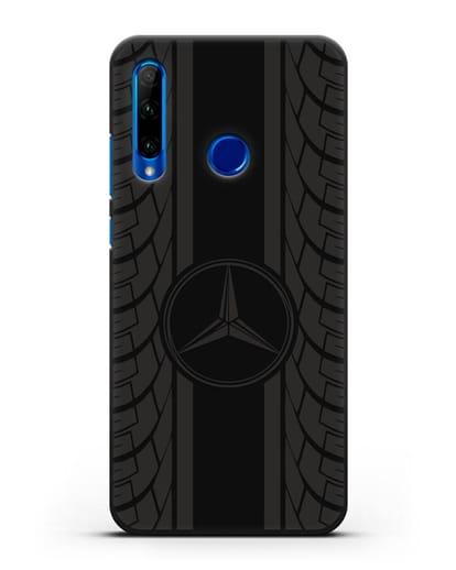 Чехол с логотипом Мерседес Бенц силикон черный для Honor 10i