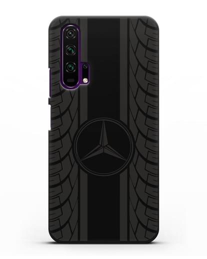 Чехол с логотипом Мерседес Бенц силикон черный для Honor 20 Pro