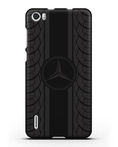 Чехол с логотипом Мерседес Бенц силикон черный для Honor 6