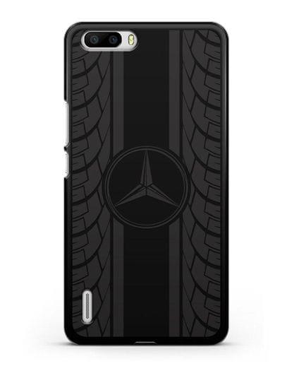 Чехол с логотипом Мерседес Бенц силикон черный для Honor 6 Plus