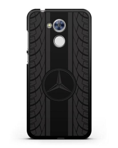 Чехол с логотипом Мерседес Бенц силикон черный для Honor 6A