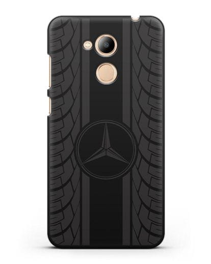 Чехол с логотипом Мерседес Бенц силикон черный для Honor 6C Pro