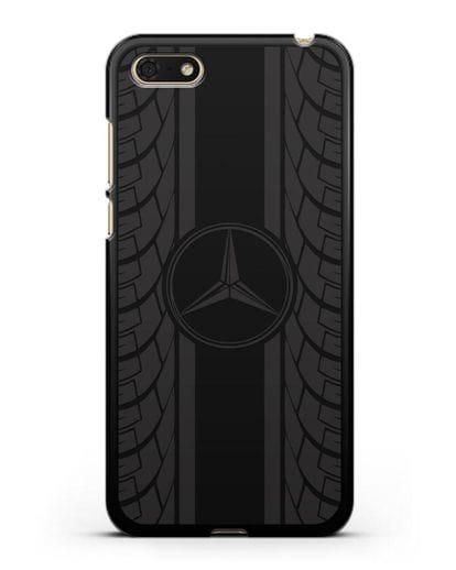 Чехол с логотипом Мерседес Бенц силикон черный для Honor 7А