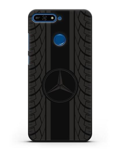 Чехол с логотипом Мерседес Бенц силикон черный для Honor 7А Pro