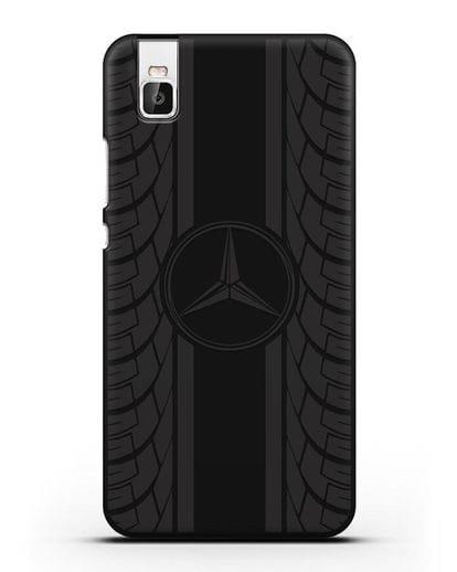 Чехол с логотипом Мерседес Бенц силикон черный для Honor 7i