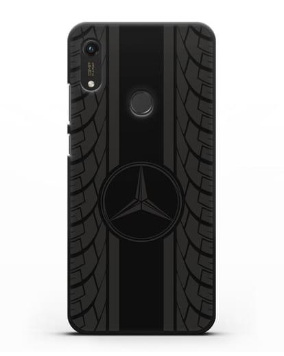 Чехол с логотипом Мерседес Бенц силикон черный для Honor 8A Prime