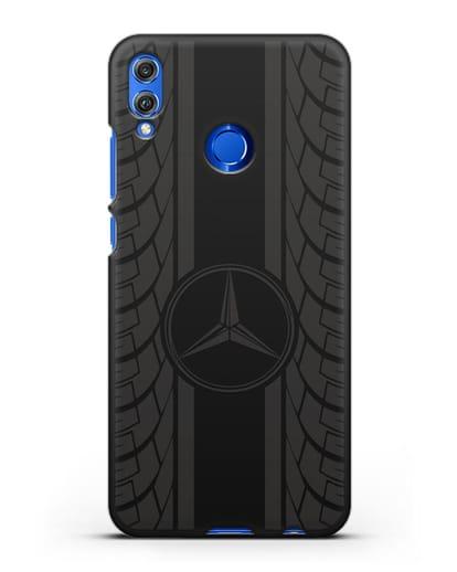 Чехол с логотипом Мерседес Бенц силикон черный для Honor 8X