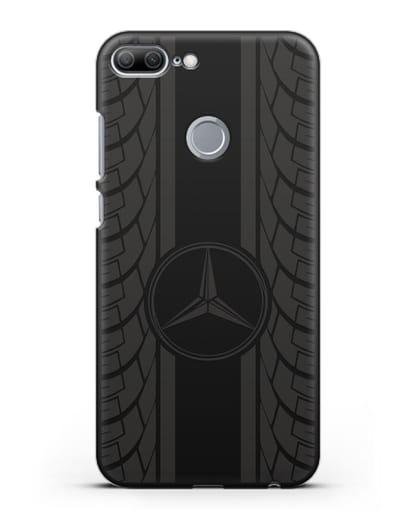 Чехол с логотипом Мерседес Бенц силикон черный для Honor 9 Lite