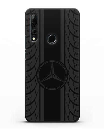 Чехол с логотипом Мерседес Бенц силикон черный для Honor 9X