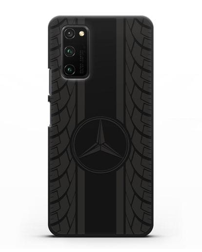 Чехол с логотипом Мерседес Бенц силикон черный для Honor View 30 Pro