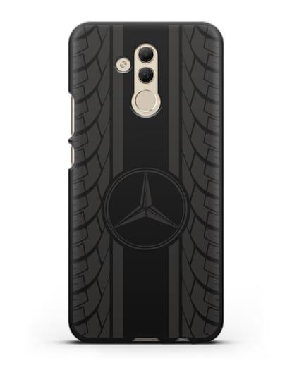 Чехол с логотипом Мерседес Бенц силикон черный для Huawei Mate 20 Lite