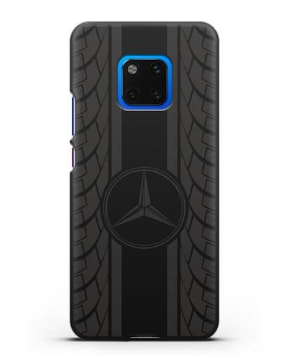 Чехол с логотипом Мерседес Бенц силикон черный для Huawei Mate 20 Pro