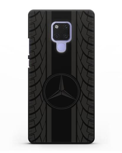 Чехол с логотипом Мерседес Бенц силикон черный для Huawei Mate 20X
