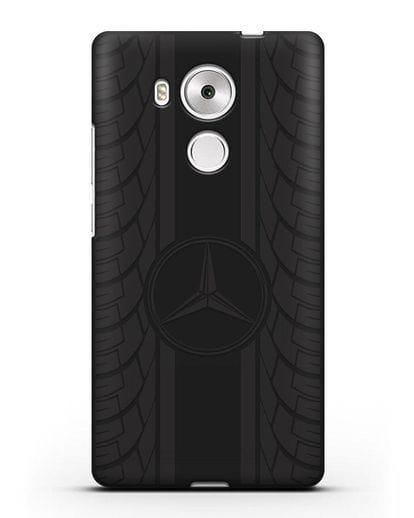Чехол с логотипом Мерседес Бенц силикон черный для Huawei Mate 8