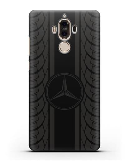 Чехол с логотипом Мерседес Бенц силикон черный для Huawei Mate 9