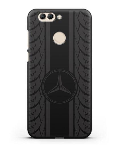 Чехол с логотипом Мерседес Бенц силикон черный для Huawei Nova 2 Plus