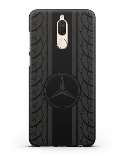 Чехол с логотипом Мерседес Бенц силикон черный для Huawei Nova 2