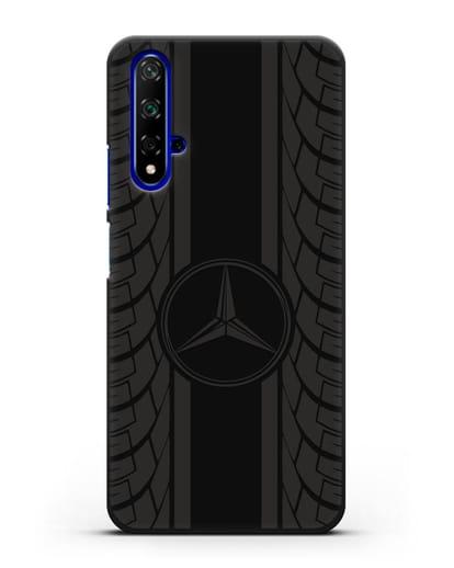 Чехол с логотипом Мерседес Бенц силикон черный для Huawei Nova 5T
