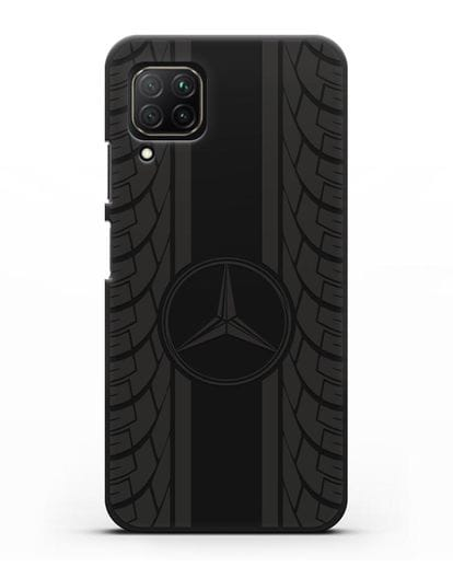 Чехол с логотипом Мерседес Бенц силикон черный для Huawei Nova 7i