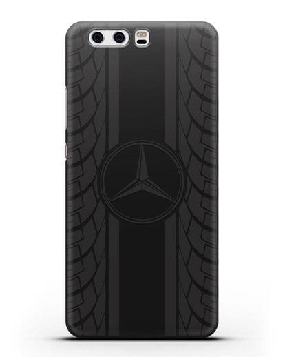 Чехол с логотипом Мерседес Бенц силикон черный для Huawei P10