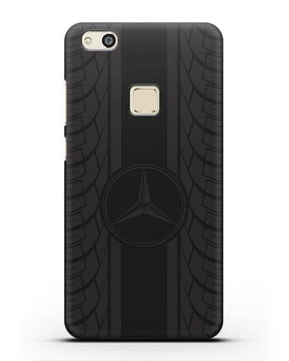 Чехол с логотипом Мерседес Бенц силикон черный для Huawei P10 Lite