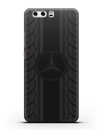 Чехол с логотипом Мерседес Бенц силикон черный для Huawei P10 Plus
