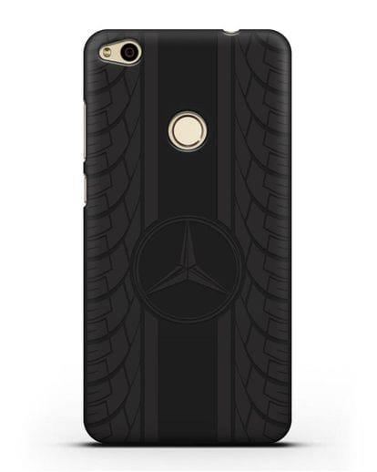 Чехол с логотипом Мерседес Бенц силикон черный для Huawei P8 Lite 2017
