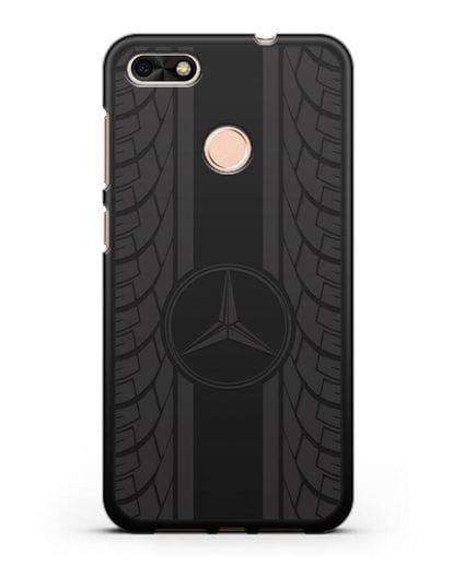 Чехол с логотипом Мерседес Бенц силикон черный для Huawei P9 Lite mini