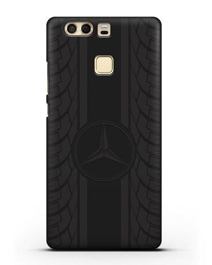 Чехол с логотипом Мерседес Бенц силикон черный для Huawei P9 Plus