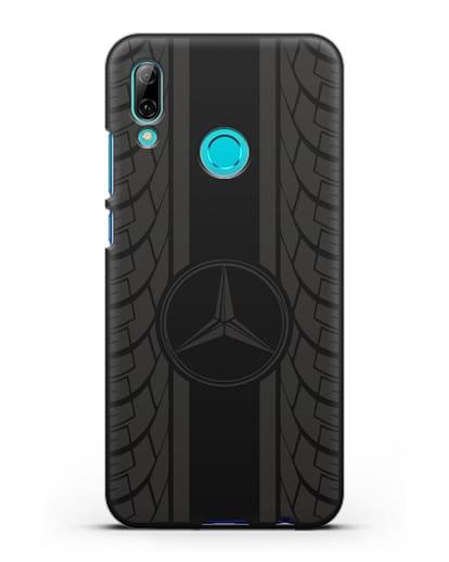 Чехол с логотипом Мерседес Бенц силикон черный для Huawei P Smart 2019