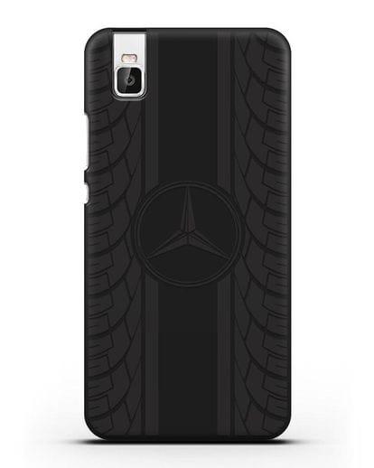 Чехол с логотипом Мерседес Бенц силикон черный для Huawei Shot X