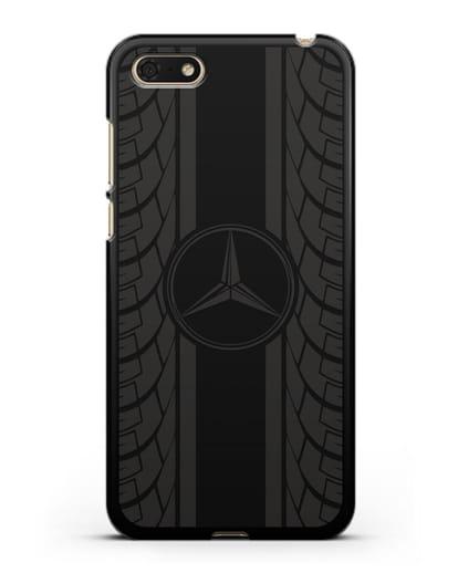 Чехол с логотипом Мерседес Бенц силикон черный для Huawei Y5 Prime 2018