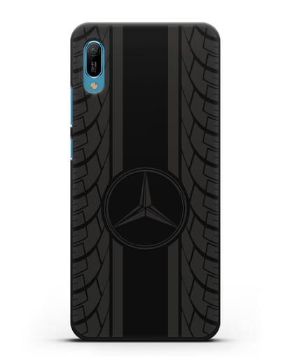 Чехол с логотипом Мерседес Бенц силикон черный для Huawei Y6 2019