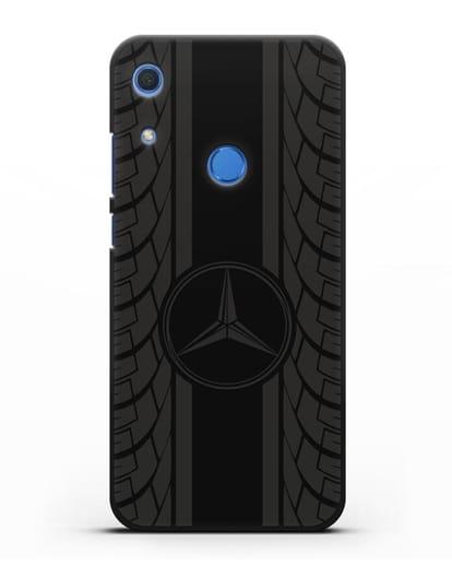 Чехол с логотипом Мерседес Бенц силикон черный для Huawei Y6s