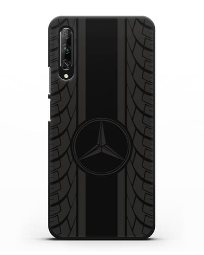 Чехол с логотипом Мерседес Бенц силикон черный для Huawei Y9s