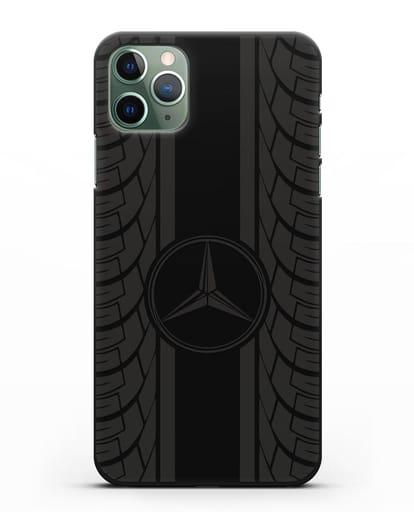 Чехол с логотипом Мерседес Бенц силикон черный для iPhone 11 Pro