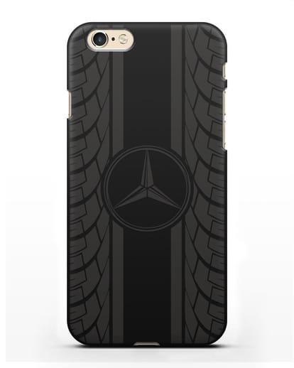 Чехол с логотипом Мерседес Бенц силикон черный для iPhone 6s