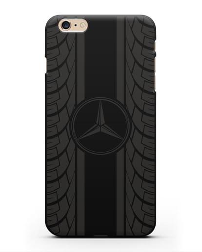 Чехол с логотипом Мерседес Бенц силикон черный для iPhone 6s Plus