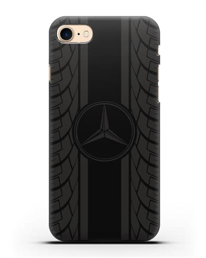 Чехол с логотипом Мерседес Бенц силикон черный для iPhone SE 2020