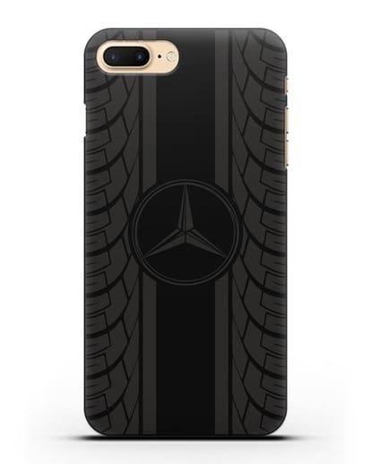 Чехол с логотипом Мерседес Бенц силикон черный для iPhone 8 Plus