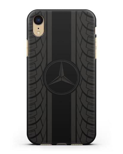 Чехол с логотипом Мерседес Бенц силикон черный для iPhone XR