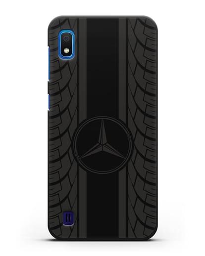 Чехол с логотипом Мерседес Бенц силикон черный для Samsung Galaxy A10 [SM-A105F]