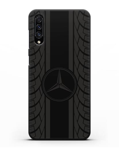 Чехол с логотипом Мерседес Бенц силикон черный для Samsung Galaxy A30s [SM-A307FN]