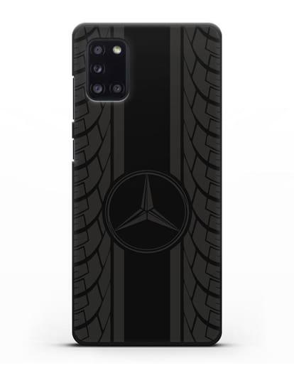 Чехол с логотипом Мерседес Бенц силикон черный для Samsung Galaxy A31 [SM-A315F]