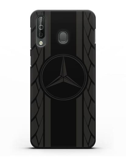 Чехол с логотипом Мерседес Бенц силикон черный для Samsung Galaxy A40s [SM-A507FN]