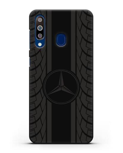 Чехол с логотипом Мерседес Бенц силикон черный для Samsung Galaxy A60 [SM-A606F]